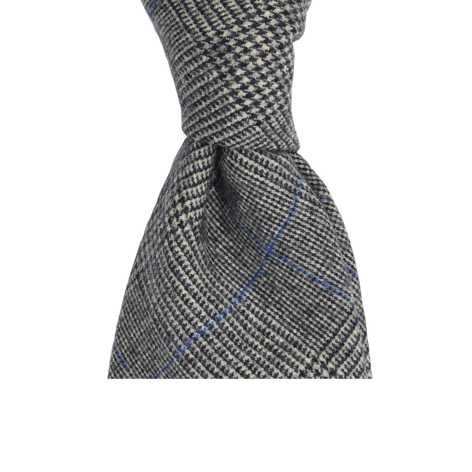 Amidé Hadelin | Fox Brothers 6-fold PoW flannel tie, grey