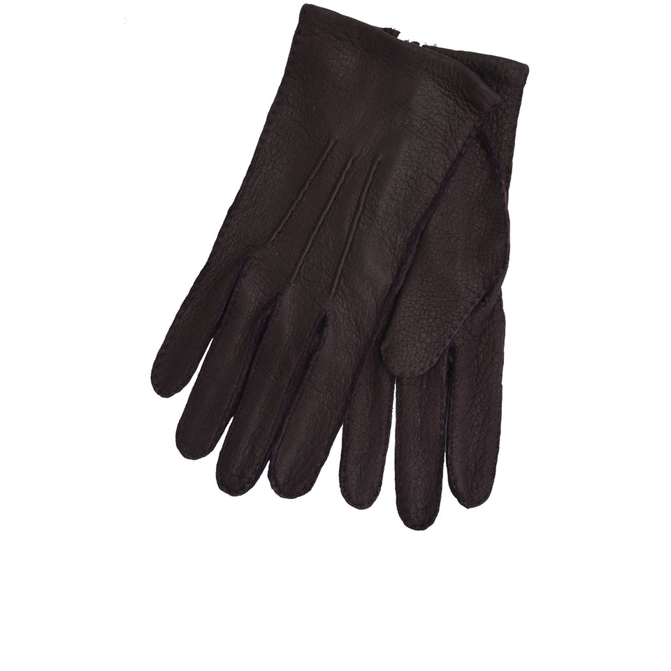 Amidé Hadelin | Limited Edition unlined peccary gloves - purple