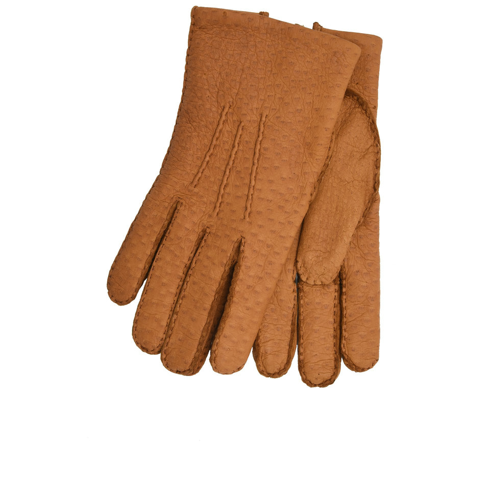 Amidé Hadelin | Cashmere lined peccary gloves, cork