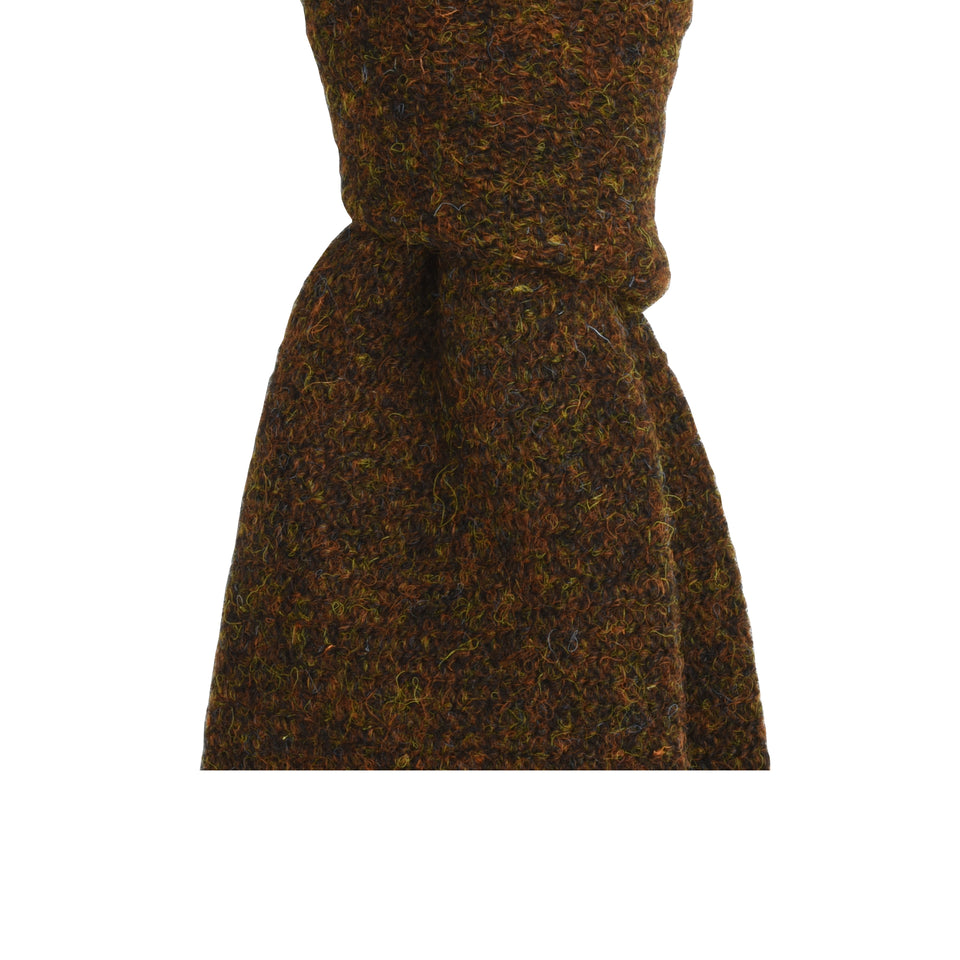 Amidé Hadelin | HARRIS TWEED tie - rust brown