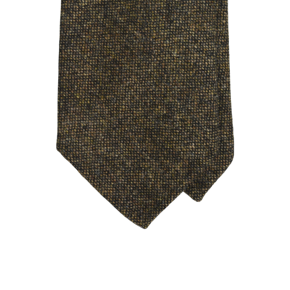 Amidé Hadelin | Abraham Moon Shetland tweed tie - dark brown