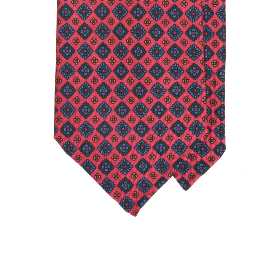 Amidé Hadelin | Handprinted ancient madder tie, candy red