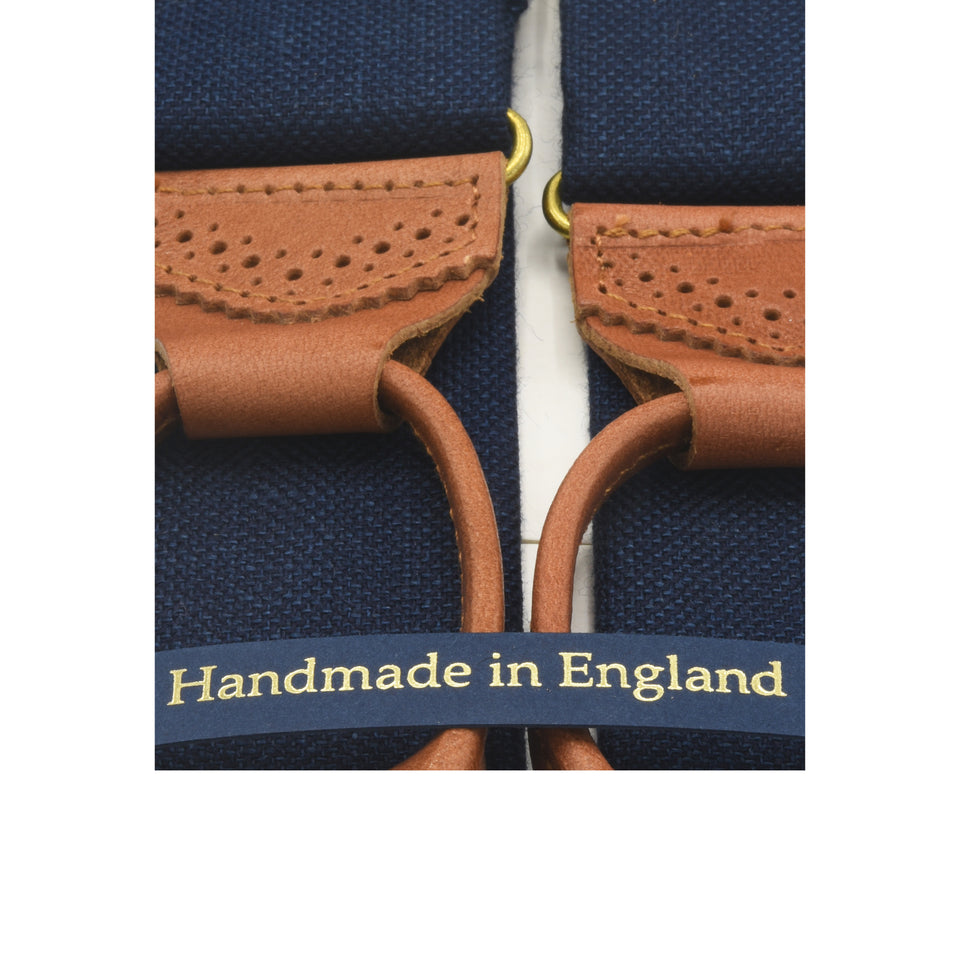 Amidé Hadelin | Abraham Moon wool/linen braces - navy