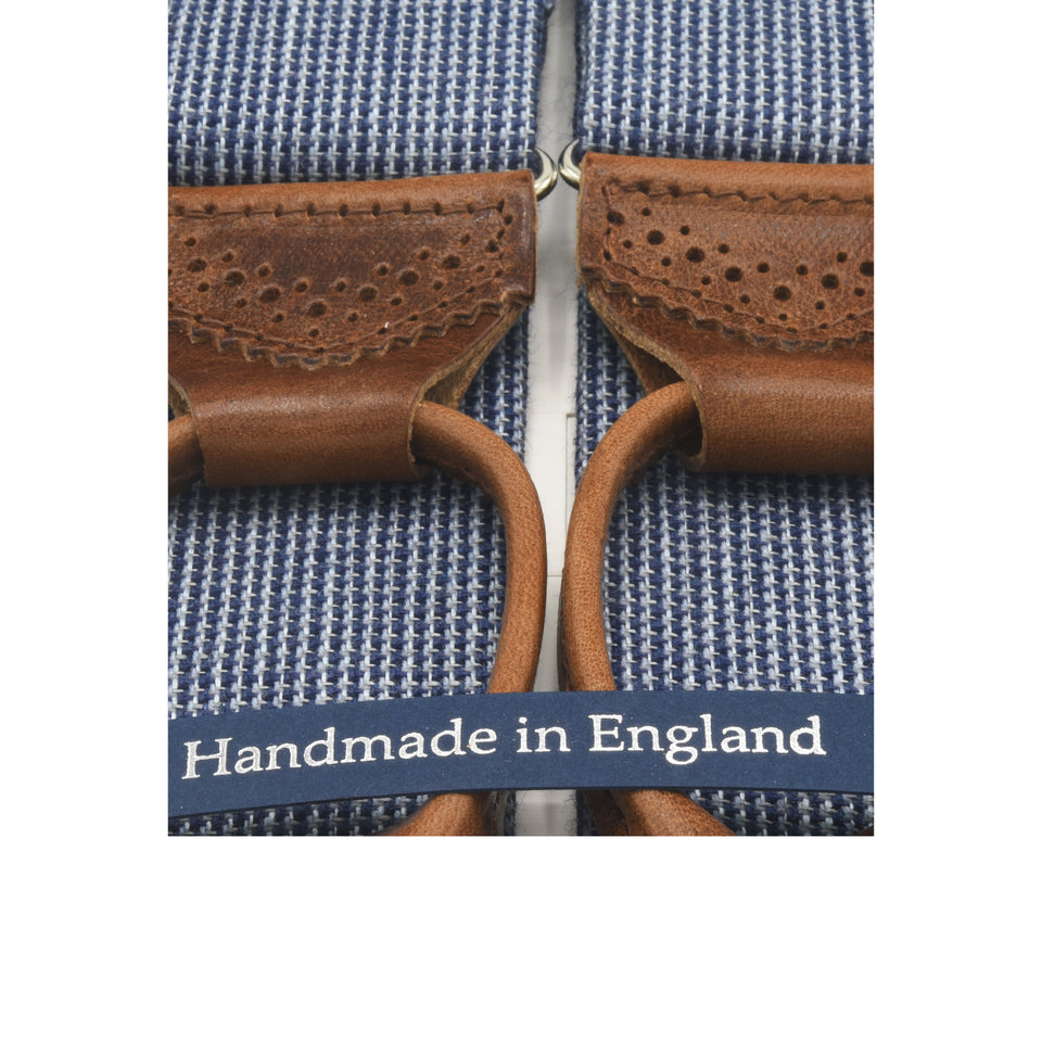 Amidé Hadelin | Abraham Moon wool/linen braces - blue