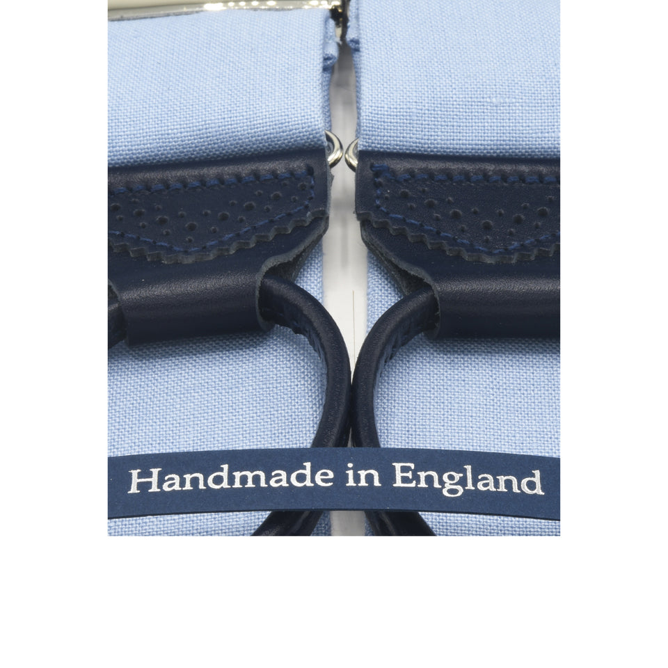 Amidé Hadelin | W. Bill Irish linen braces - light blue