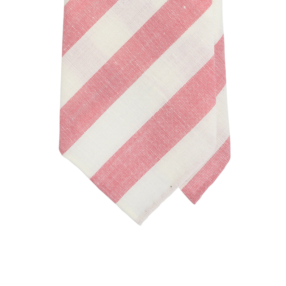 Amidé Hadelin | Fox Brothers wool/linen tie - pink/white