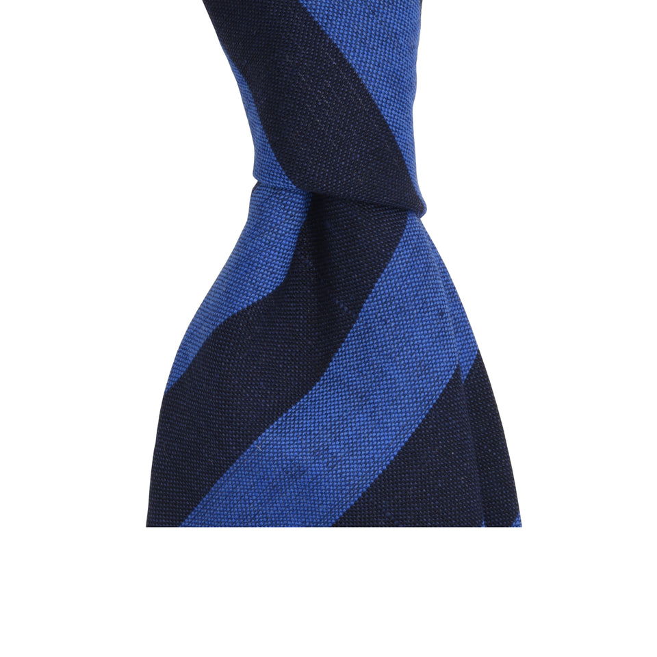 Amidé Hadelin | Fox Brothers wool/linen tie - blue/navy