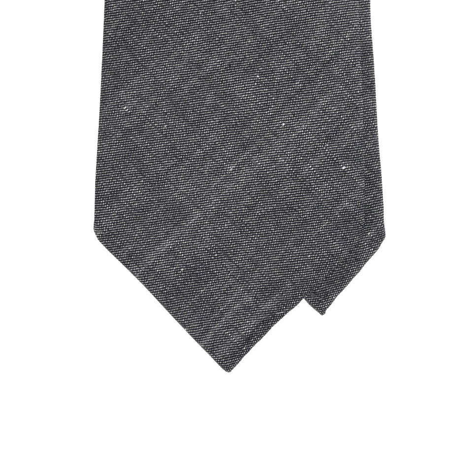 Amidé Hadelin | Fox Brothers linen/wool tie - denim blue