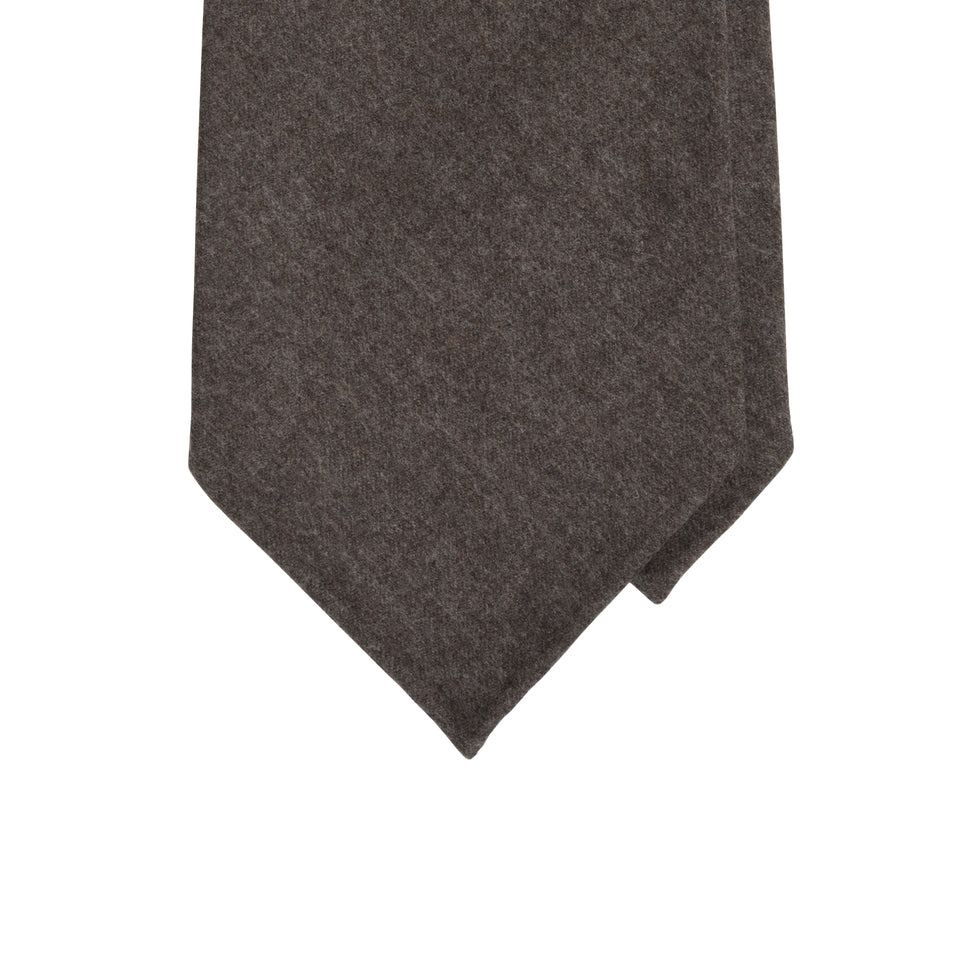 Amidé Hadelin | Fox Brothers 6-fold flannel tie, greyish brown