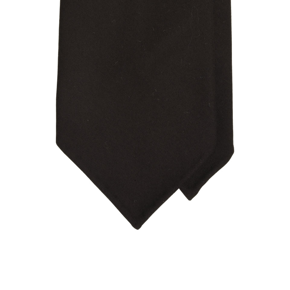 Amidé Hadelin | Fox Brothers 6-fold flannel tie, dark chocolate