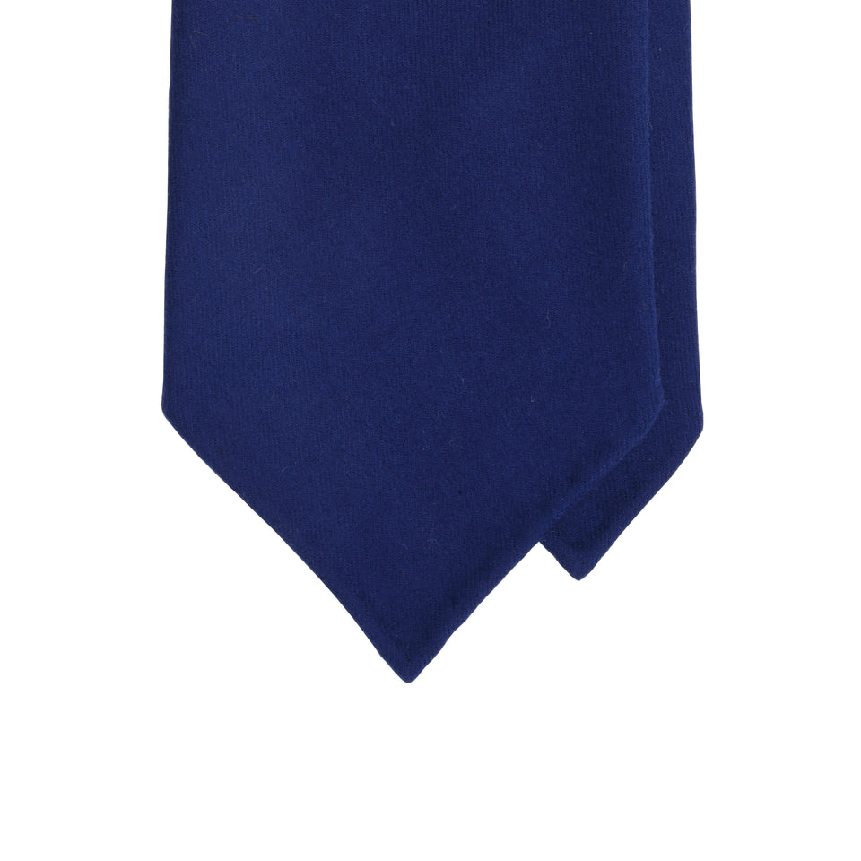Amidé Hadelin | Fox Brothers 6-fold flannel tie, blue