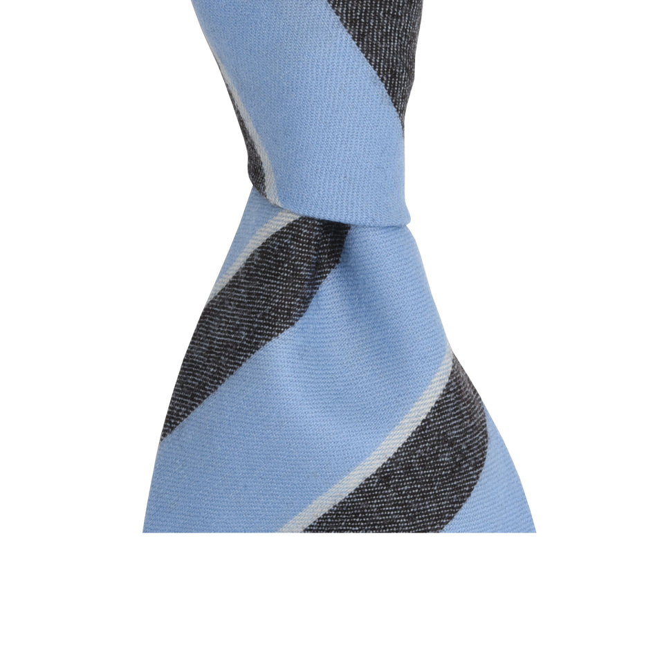 Amidé Hadelin | Fox Brothers stripe tie, light blue
