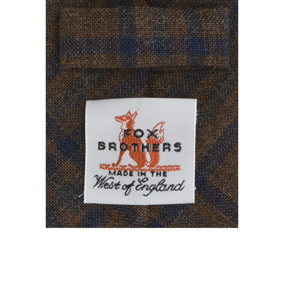 Amidé Hadelin | Fox Brothers check tie, russet