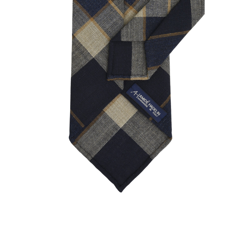 Amidé Hadelin | Fox Brothers madras check tie, midnight
