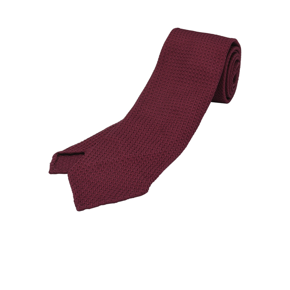 Orange Label | 'garza grossa' tie, burgundy_full