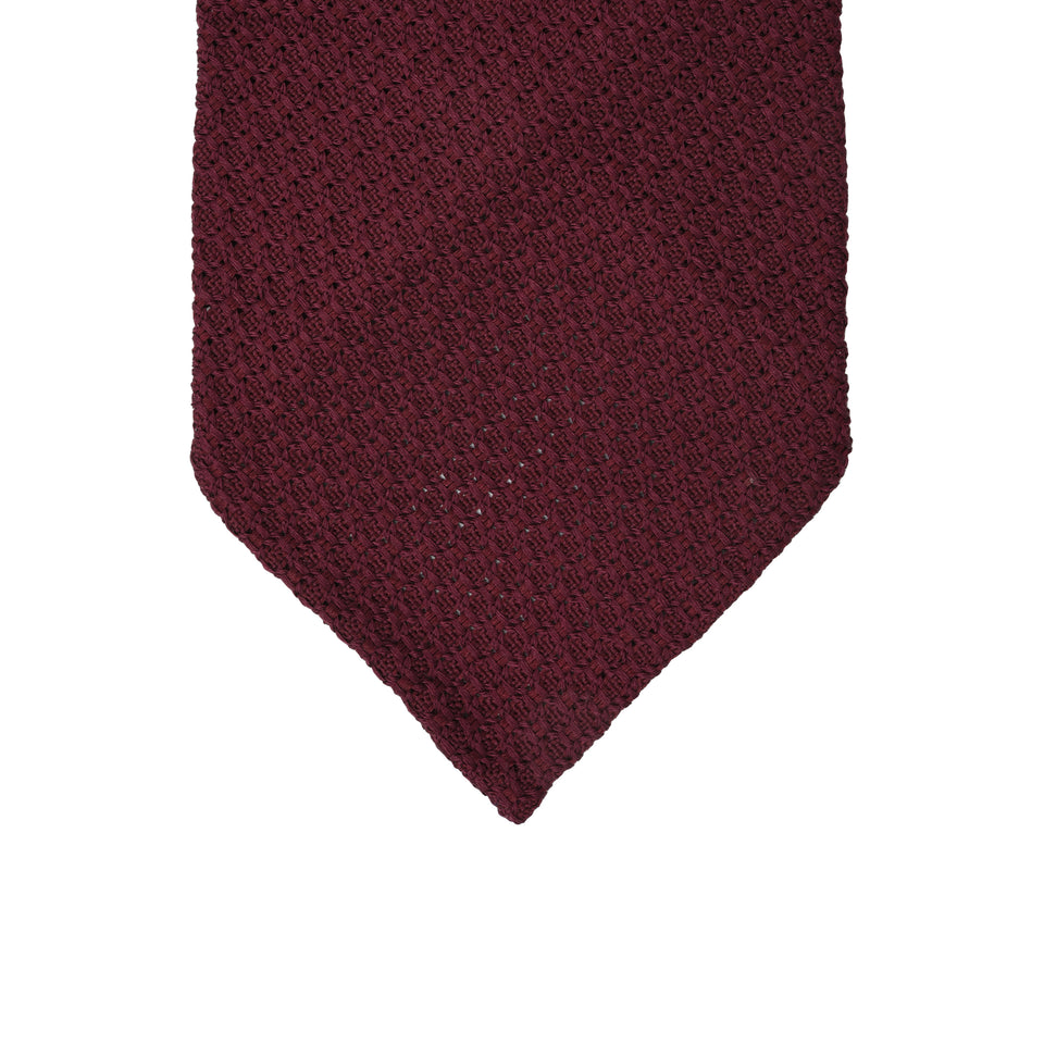 Orange Label | 'garza grossa' tie, burgundy_tip