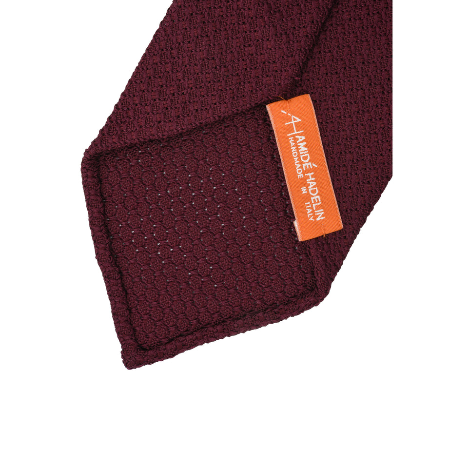 Orange Label | 'garza grossa' tie, burgundy_back