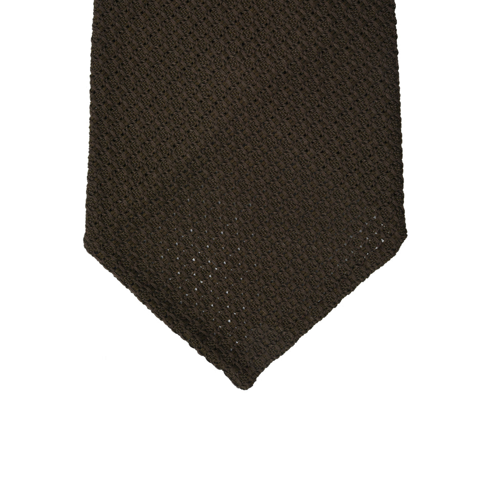 Orange Label | 'garza grossa' tie, dark brown_tip
