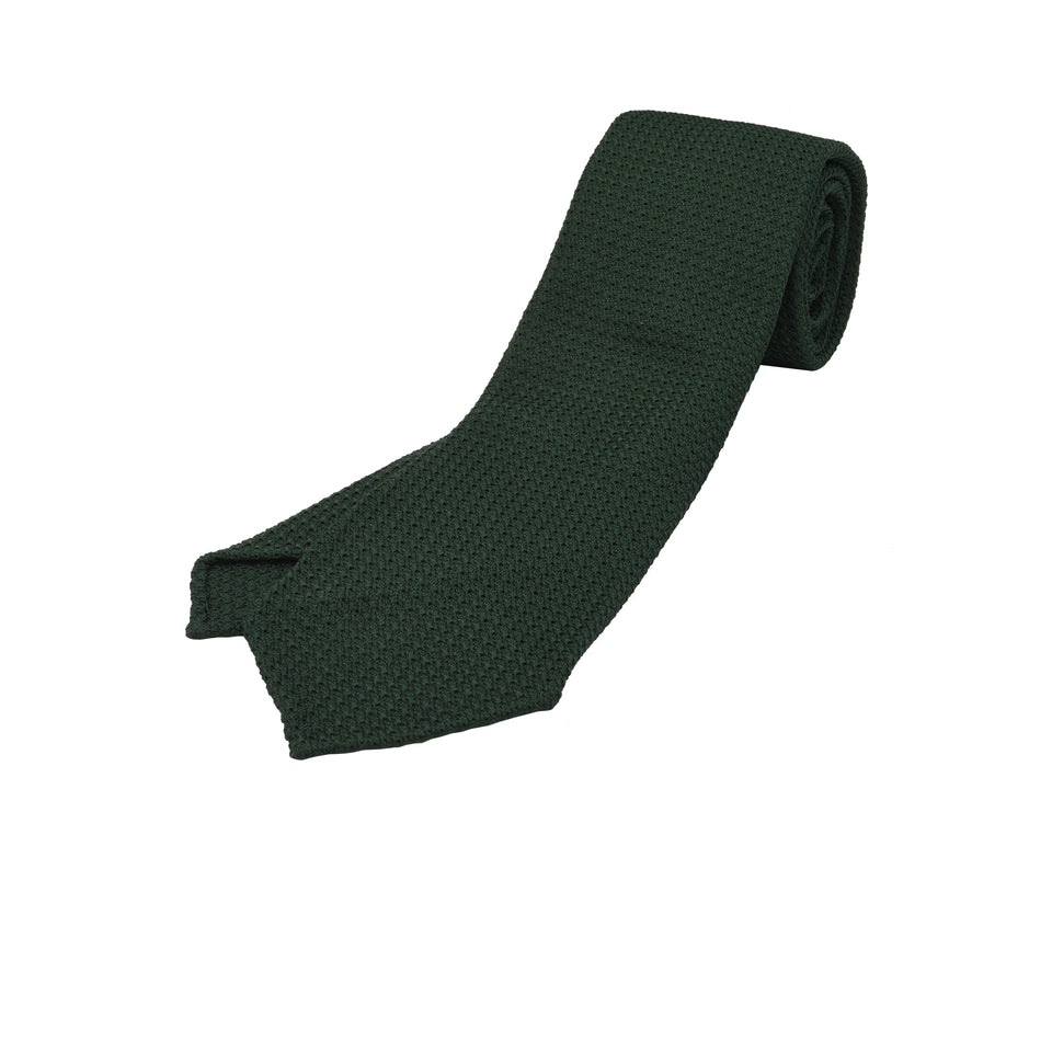 Orange Label | 'garza grossa' tie, dark green_full