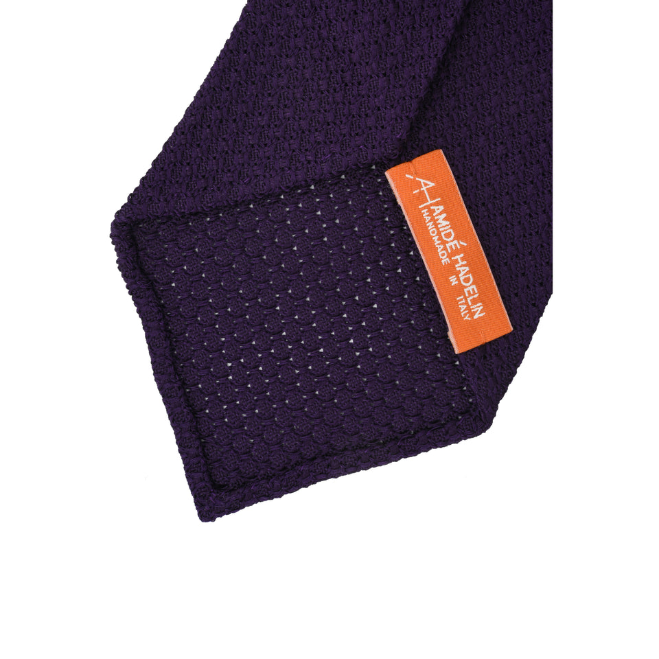 Orange Label | 'garza grossa' tie, purple_back