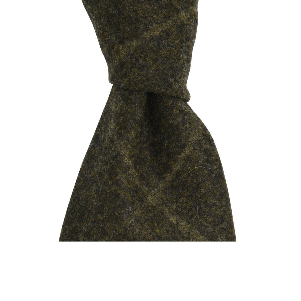 Amidé Hadelin | Loden windowpane tie, brown_knot