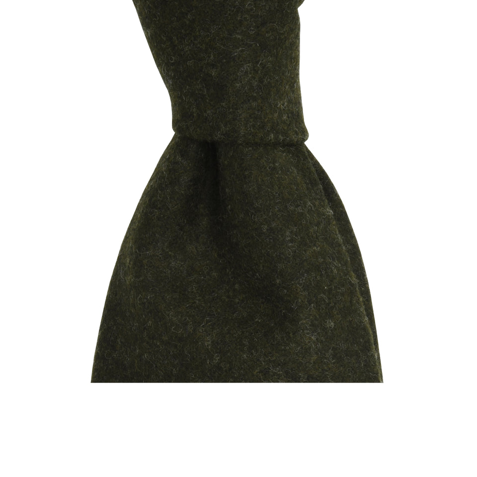 Amidé Hadelin | Loden tie, loden green_knot
