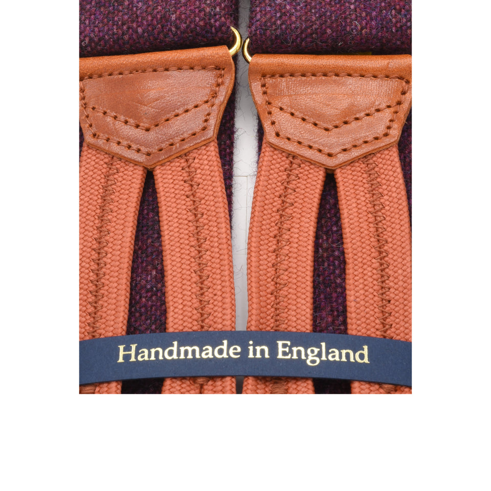 Amidé Hadelin | Abraham Moon Shetland tweed braces - purple_detail
