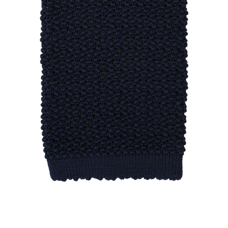 Orange Label | knit silk tie, navy_tip