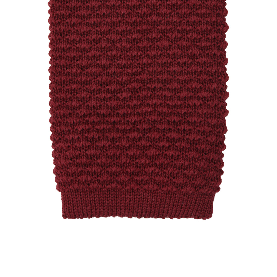 Orange Label | knit wool tie, red_tip