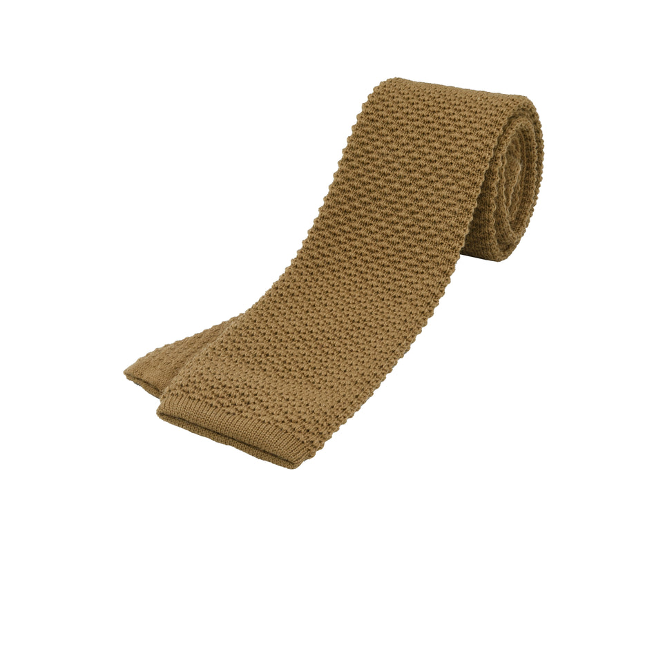 Orange Label | knit wool tie, beige_full