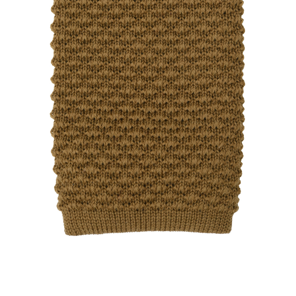 Orange Label | knit wool tie, beige_tip