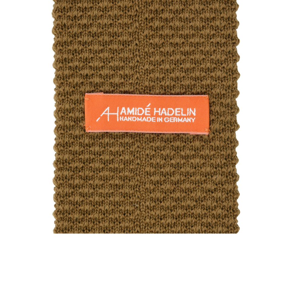 Orange Label | knit wool tie, beige_back