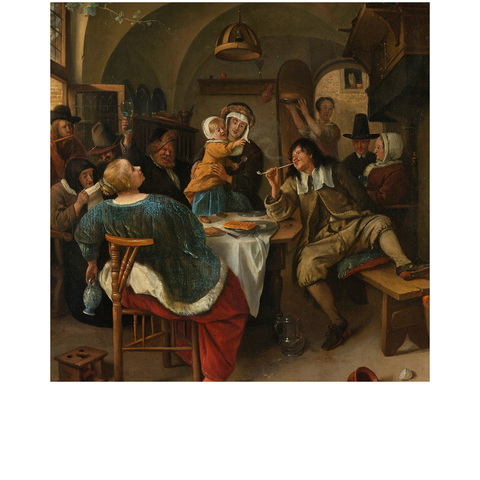 Amidé Hadelin | Jan Steen silk lining panel 'Family scene'