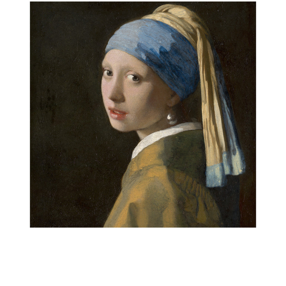 Amidé Hadelin | Jan Steen silk lining panel 'Girl with a Pearl Earring'