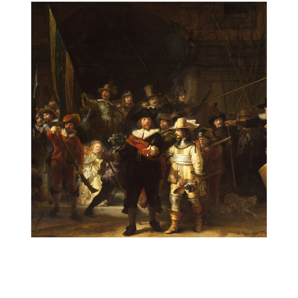 Amidé Hadelin | Rembrandt van Rijn silk lining panel 'Night Watch'
