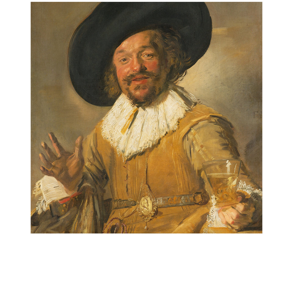 Amidé Hadelin | Frans Hals silk lining panel 'The Merry Drinker'