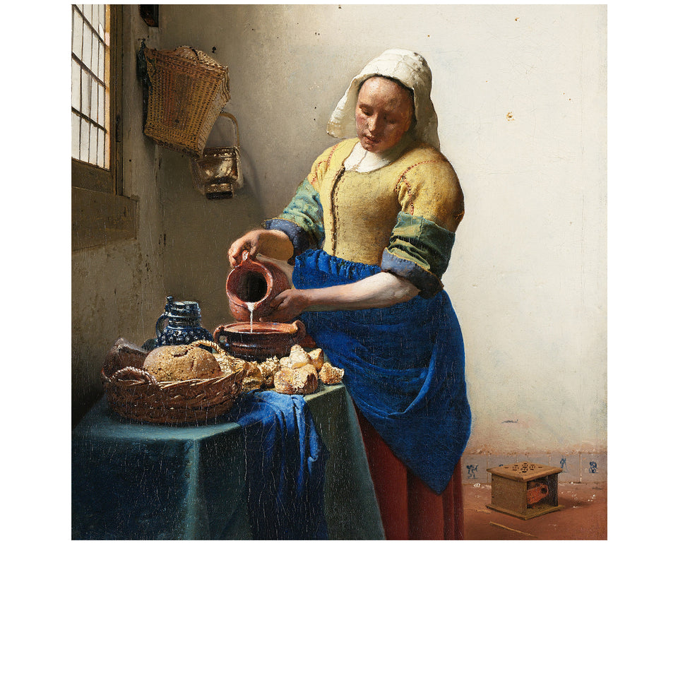 Amidé Hadelin | Jan Steen silk lining panel 'The Milkmaid'