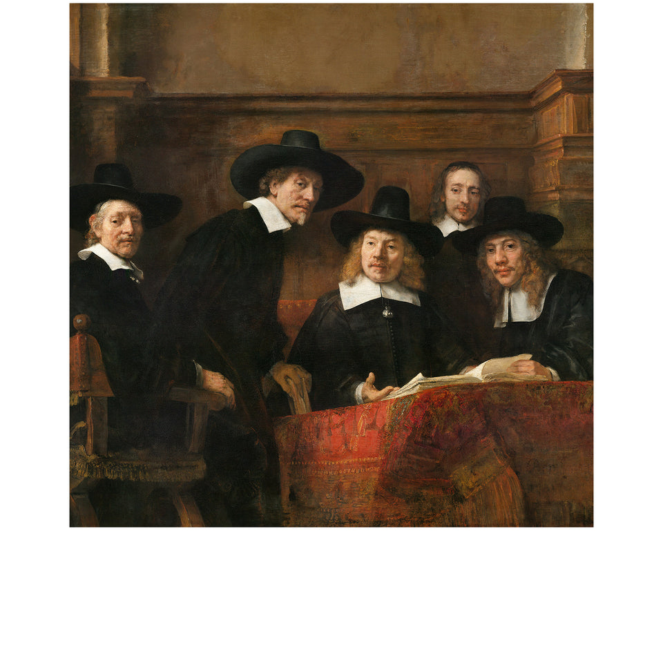 Amidé Hadelin | Rembrandt van Rijn silk lining panel 'The Syndics'