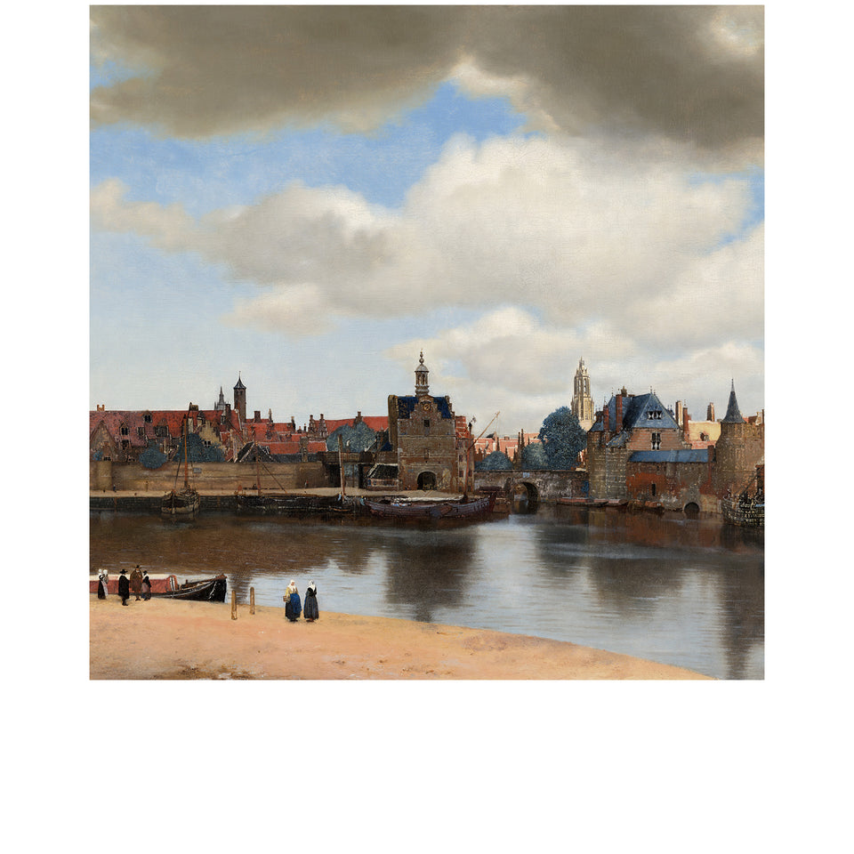 Amidé Hadelin | Johannes Vermeer silk lining panel 'View of Delft'