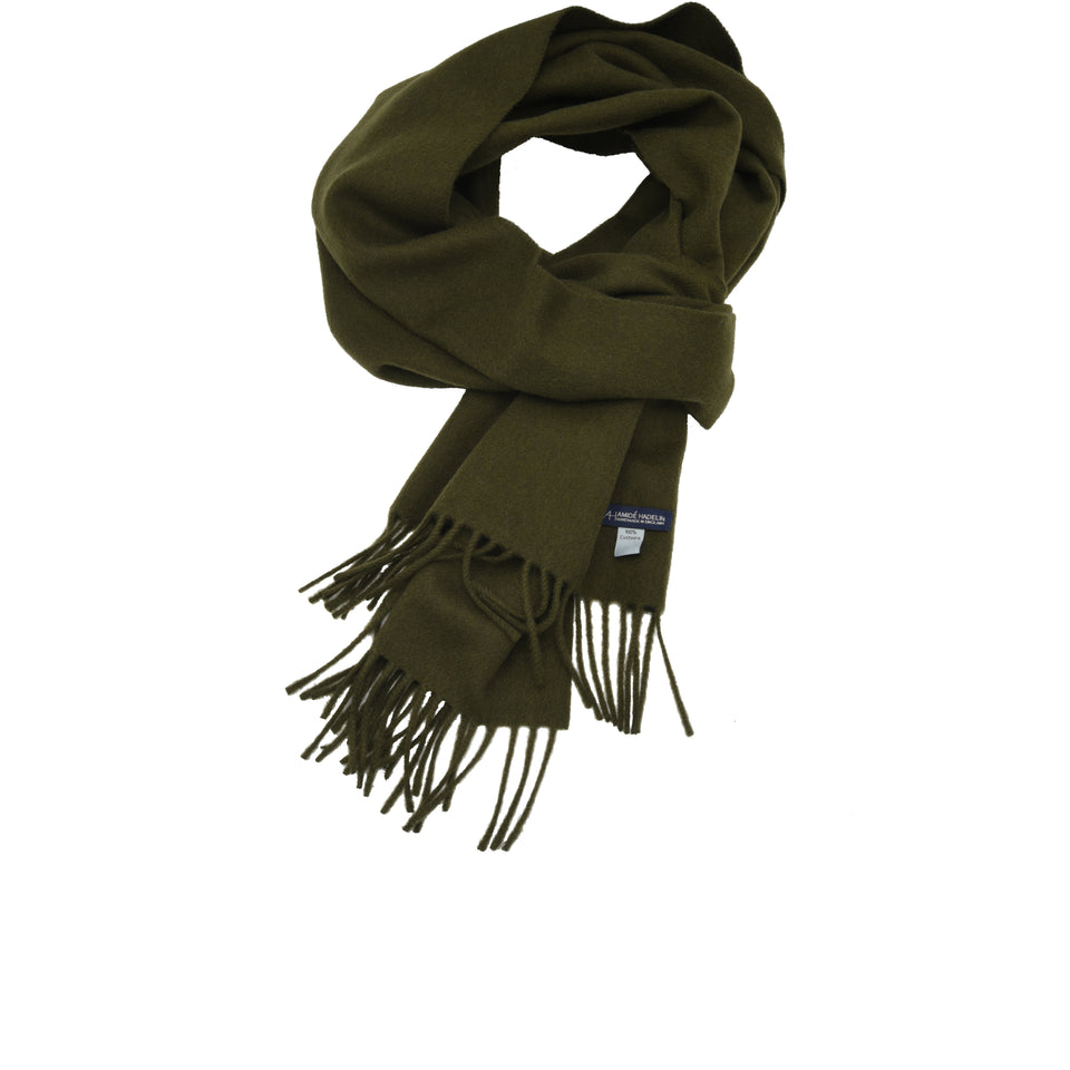 Amidé Hadelin | Cashmere scarf, olive drab_full