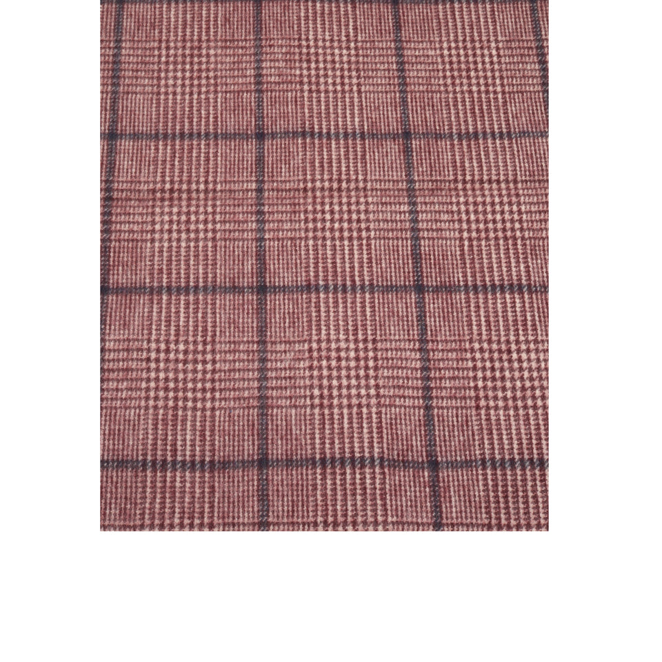 Amidé Hadelin | Cashmere PoW check scarf, cream/crimson/blue_pattern