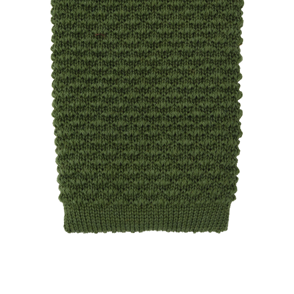 Orange Label | knit wool tie, olive_tip