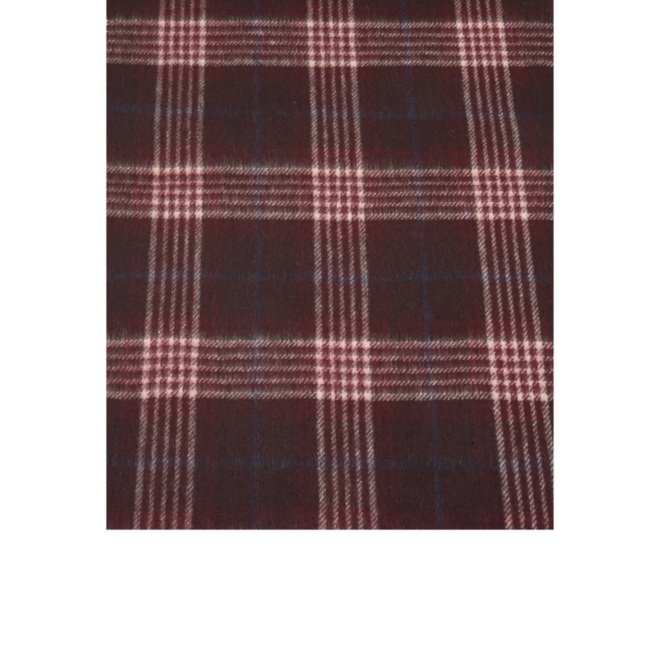 Amidé Hadelin | Cashmere house check scarf, burgundy/cream/navy_pattern