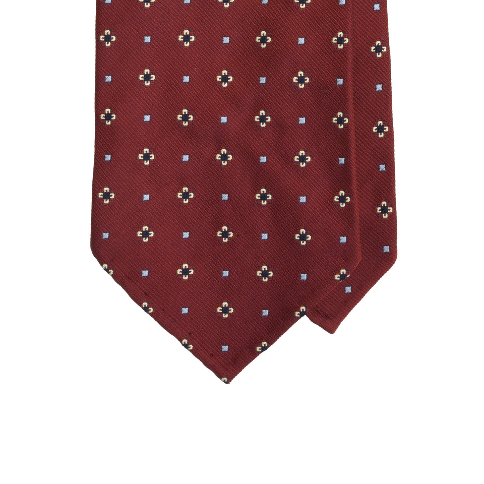 Amidé Hadelin | Limited Edition jacquard silk tie - rusty red_tip