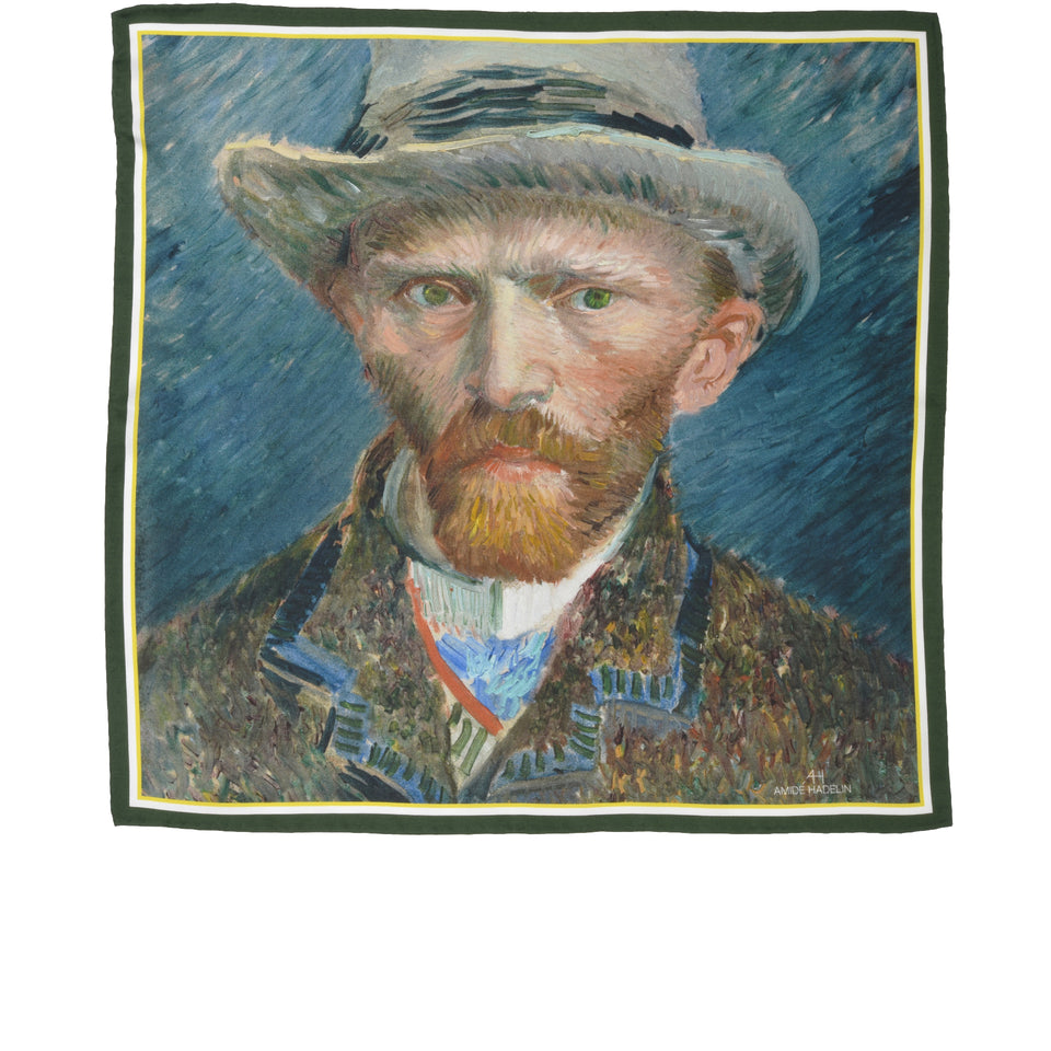 Amidé Hadelin | Vincent van Gogh pocket square 'Self-portrait'_full