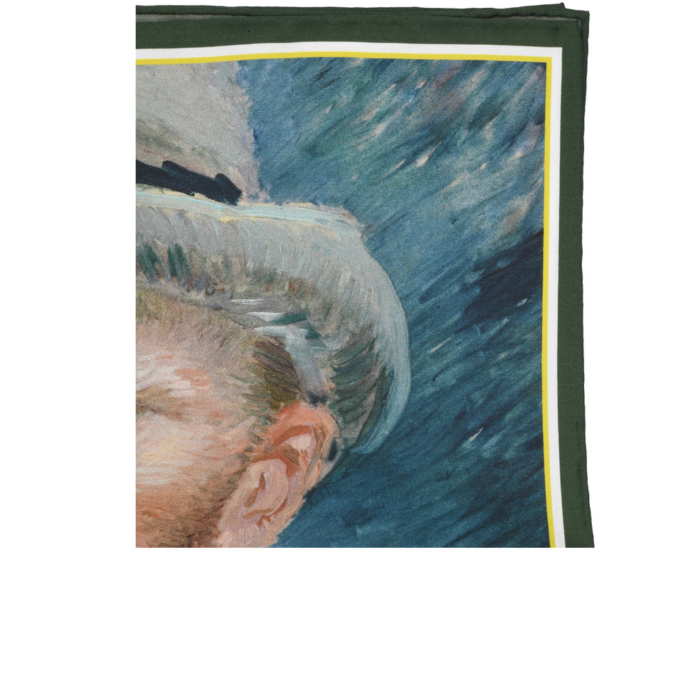 Amidé Hadelin | Vincent van Gogh pocket square 'Self-portrait'_top