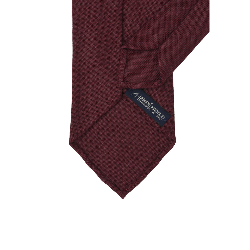 Amidé Hadelin | Irish linen tie, damson_back