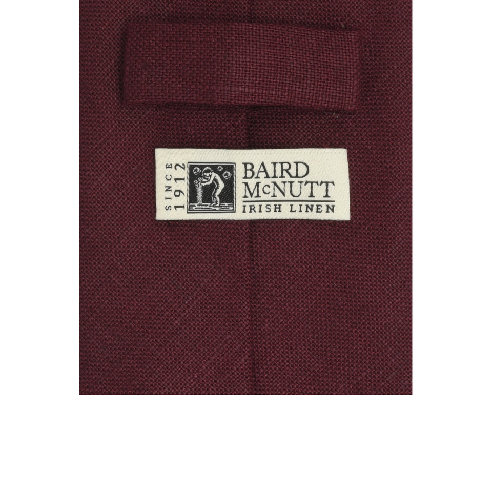 Amidé Hadelin | Irish linen tie, damson_label