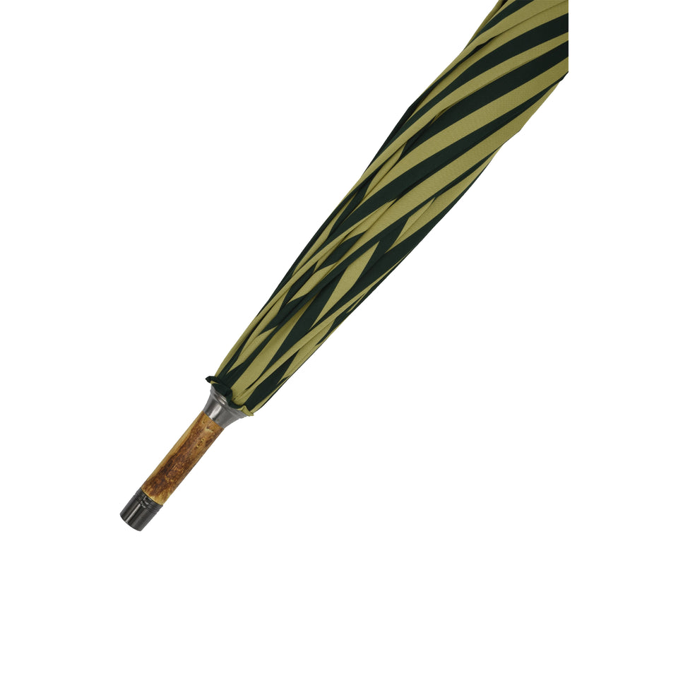 Amidé Hadelin | Hazel wood solid stick umbrella, yellow/green