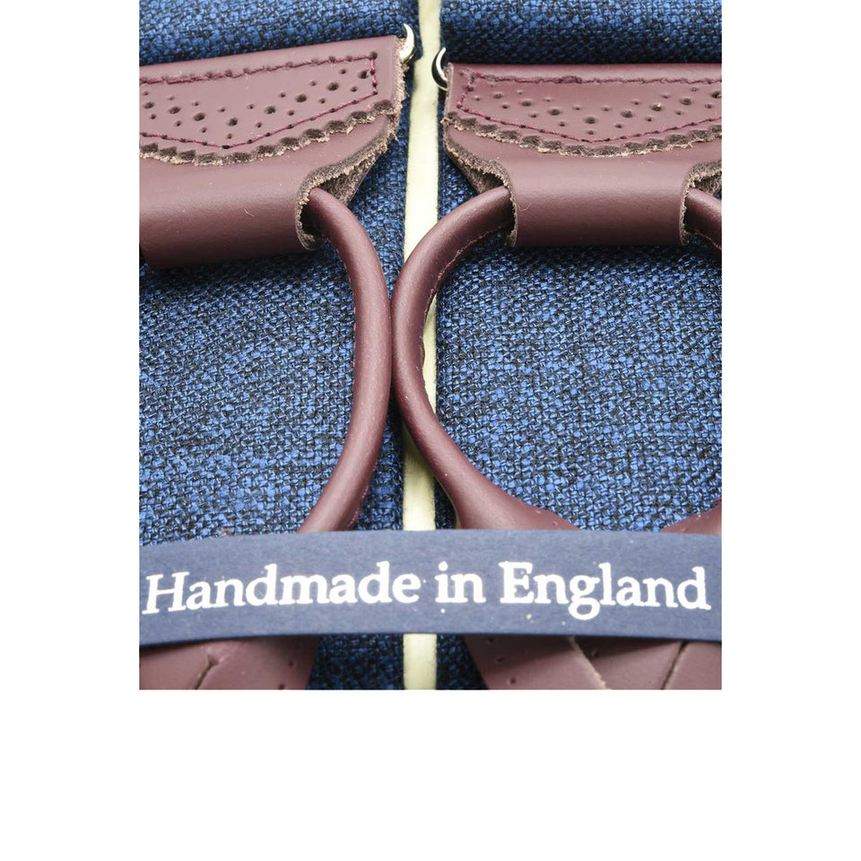 Amidé Hadelin Hardy Minnis bamboo suspenders, blue